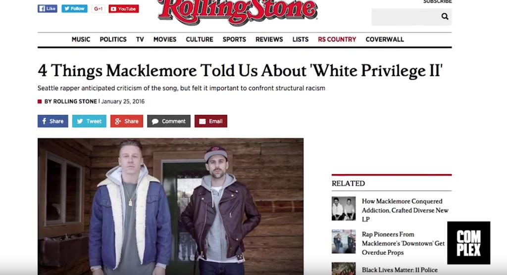 "Macklemore Explains Why He Called Out Iggy Azalea on ""White Privilege II"""